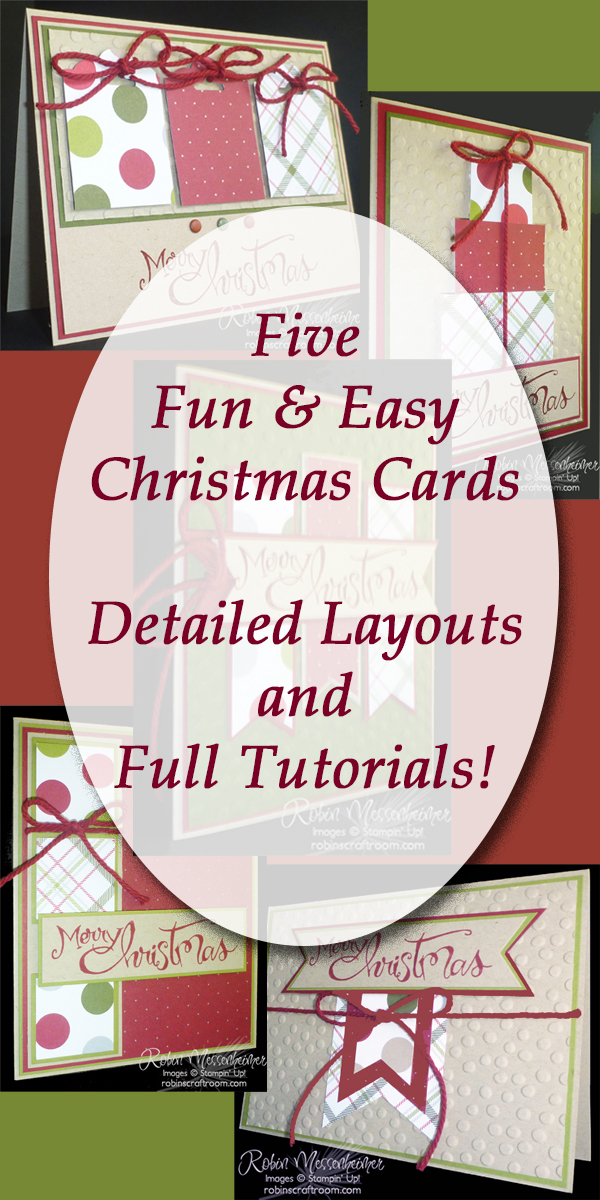 we made this set of tutorials for five christmas cards using 2015 stampin up products our favorites but the instructions make it easy for you to use - Christmas Card Layout