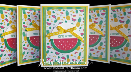 Fun With a Watermelon Stamp!