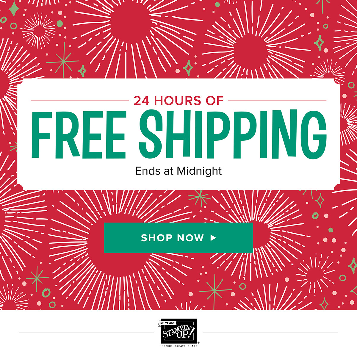 FREE SHIPPING Day – Monday, 12/11/17!