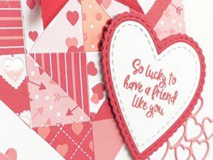Quilt Pattern Valentine Card