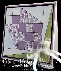 Card made with quilt block pattern