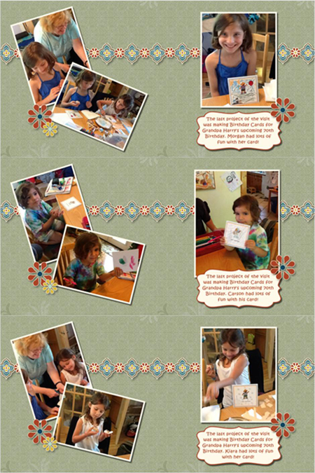 Making Cards - all 3 children