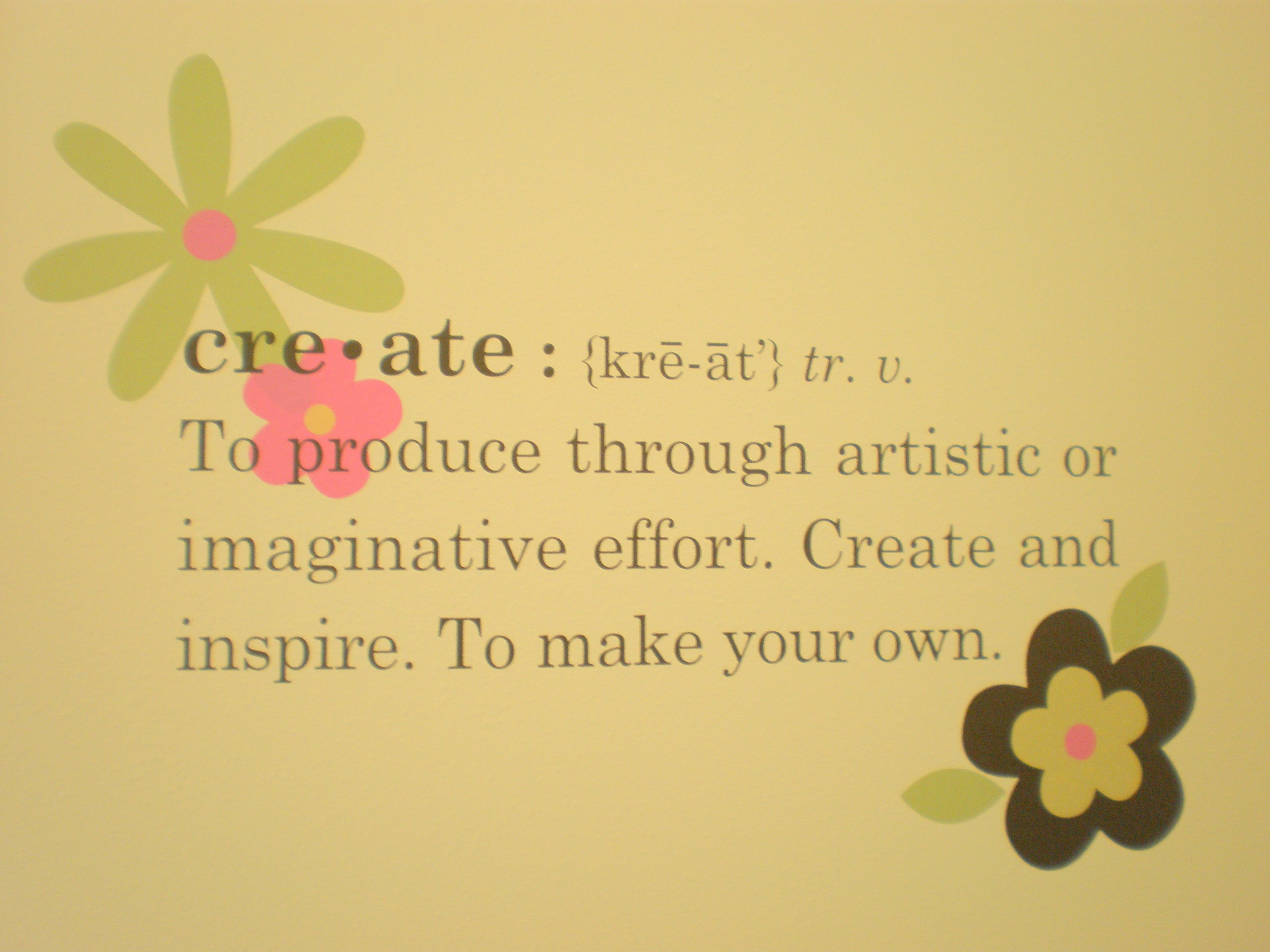 Meaning Of Wall Decor : Craft room quotes and sayings quotesgram
