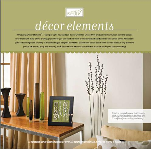 Stampin Up Introduces Decor Elements Robinscraftroom Com