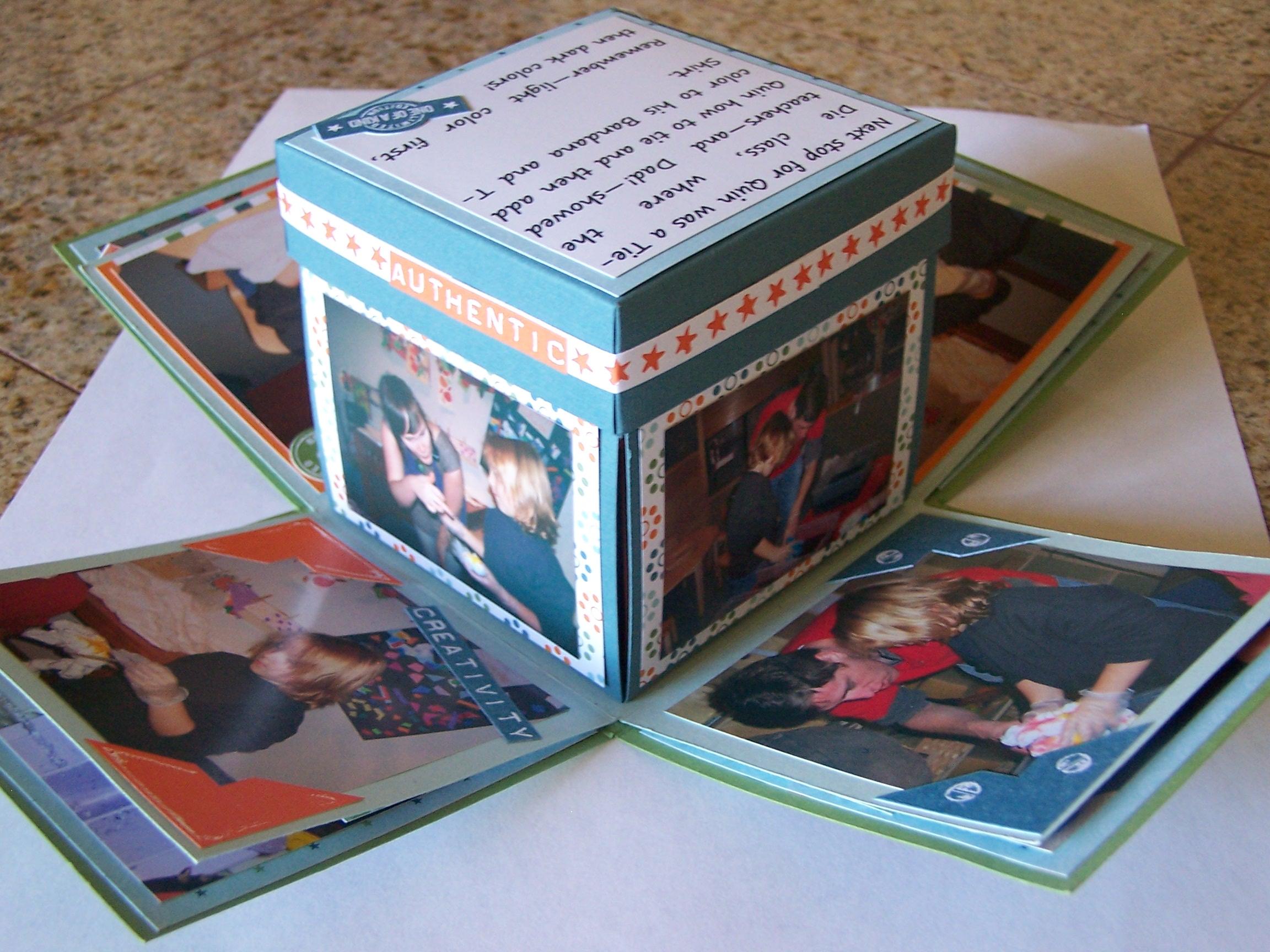 Explosion Box A Good Way To Scrapbook Robinscraftroom